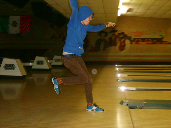 Brian's wild bowling style