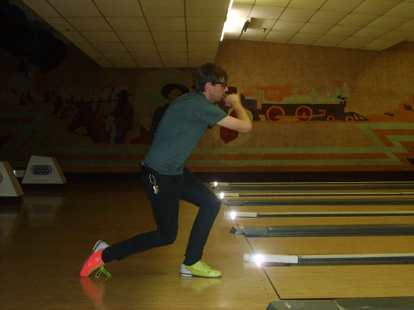 Dan's professional bowling prowess