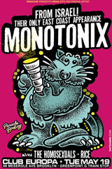 Monotonix Flyer — 5/19/2009